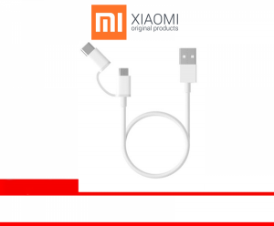 XIAOMI 2-IN-1 USB CABLE (USB TO TYPE C) - WHITE 100 CM